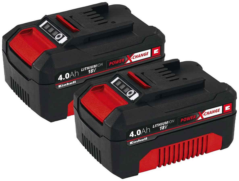 Herkules Baumarkt: Einhell Twin Pack mit 2x 18v Akku / jeweils 4 ah , für alle Power X- Change Geräte von Einhell