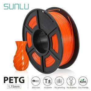 SUNLU PETG 3D-Drucker-Filament 1.75mm (blau / orange)