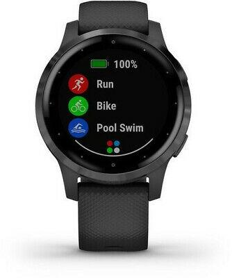 GARMIN Vivoactive 4S Smartwatch Schwarz/Schiefergrau (auch Vivoactive 4 Smartwatch Dunkelgrau/Silber zum gleichen Preis)