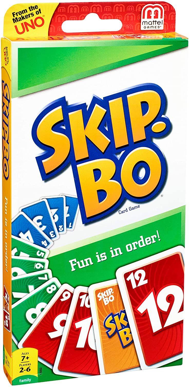 [Prime] Mattel Games Skip-Bo Kartenspiel und Familienspiel geeignet für 2 - 6 Spieler, ab 7 (englische Version)
