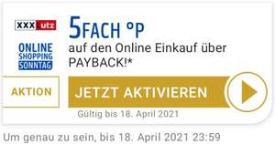 xxxlutz 5Fach °P auf den Online Einkauf über Payback bis 18.04