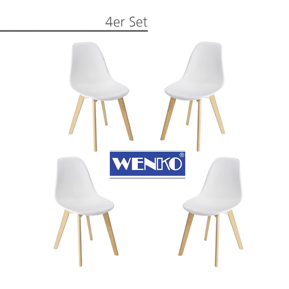 4er Set Esszimmerstühle Echtholz Skandinavisches 50er Jahre Design SALA