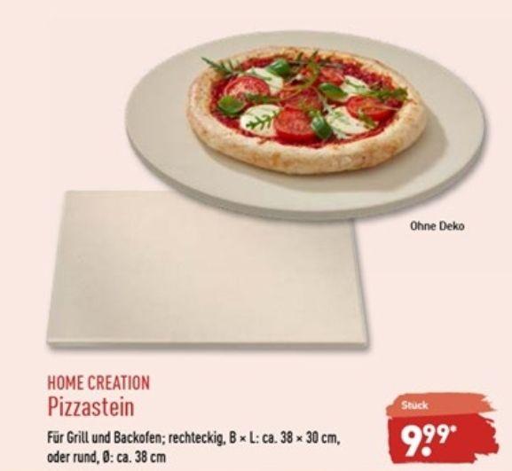 Pizzastein [rund Ø 38 x 1,2 | eckig 38×30×1,2]