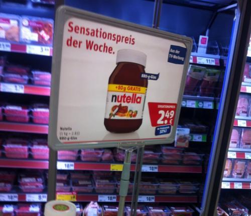 [Rewe] Nutella für 2,49€ 880g | Bundesweit