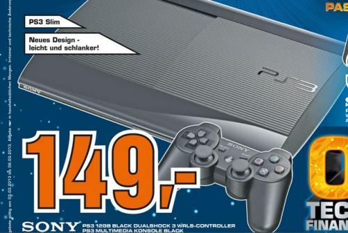 Playstation 3 Slim 12GB Flash 149€ @Aachen Saturn