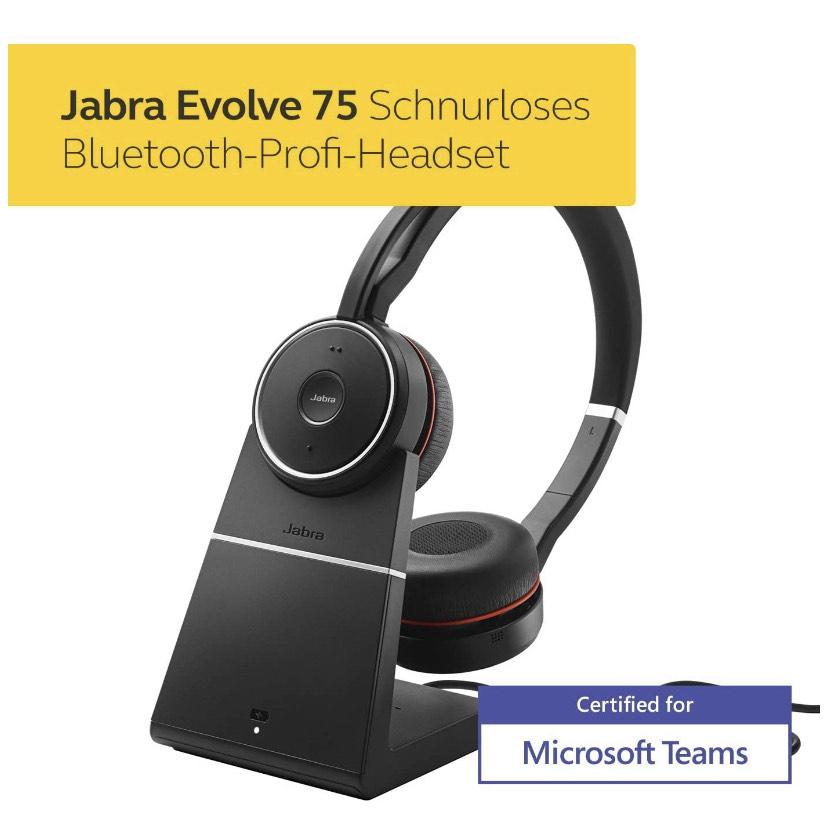 Jabra Evolve 75 MS mit Ladestation