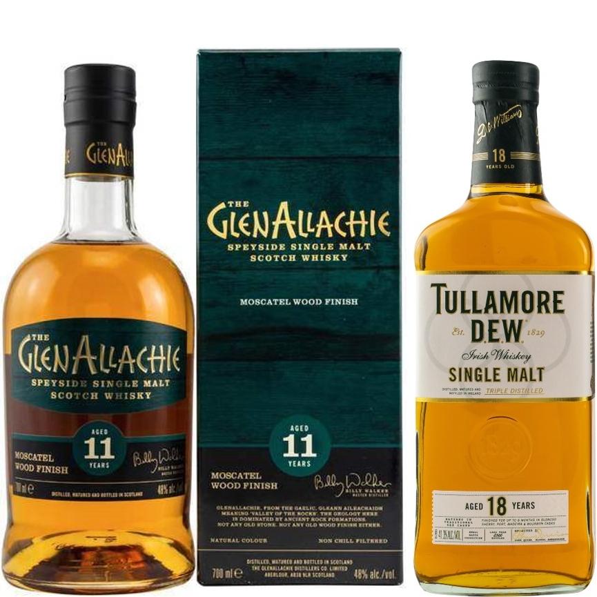 Whisky-Übersicht #85: z.B. GlenAllachie 11 Moscatel Finish für 48,90€, Tullamore Dew 18 Single Malt Irish Whiskey für 68,35€ inkl. Versand