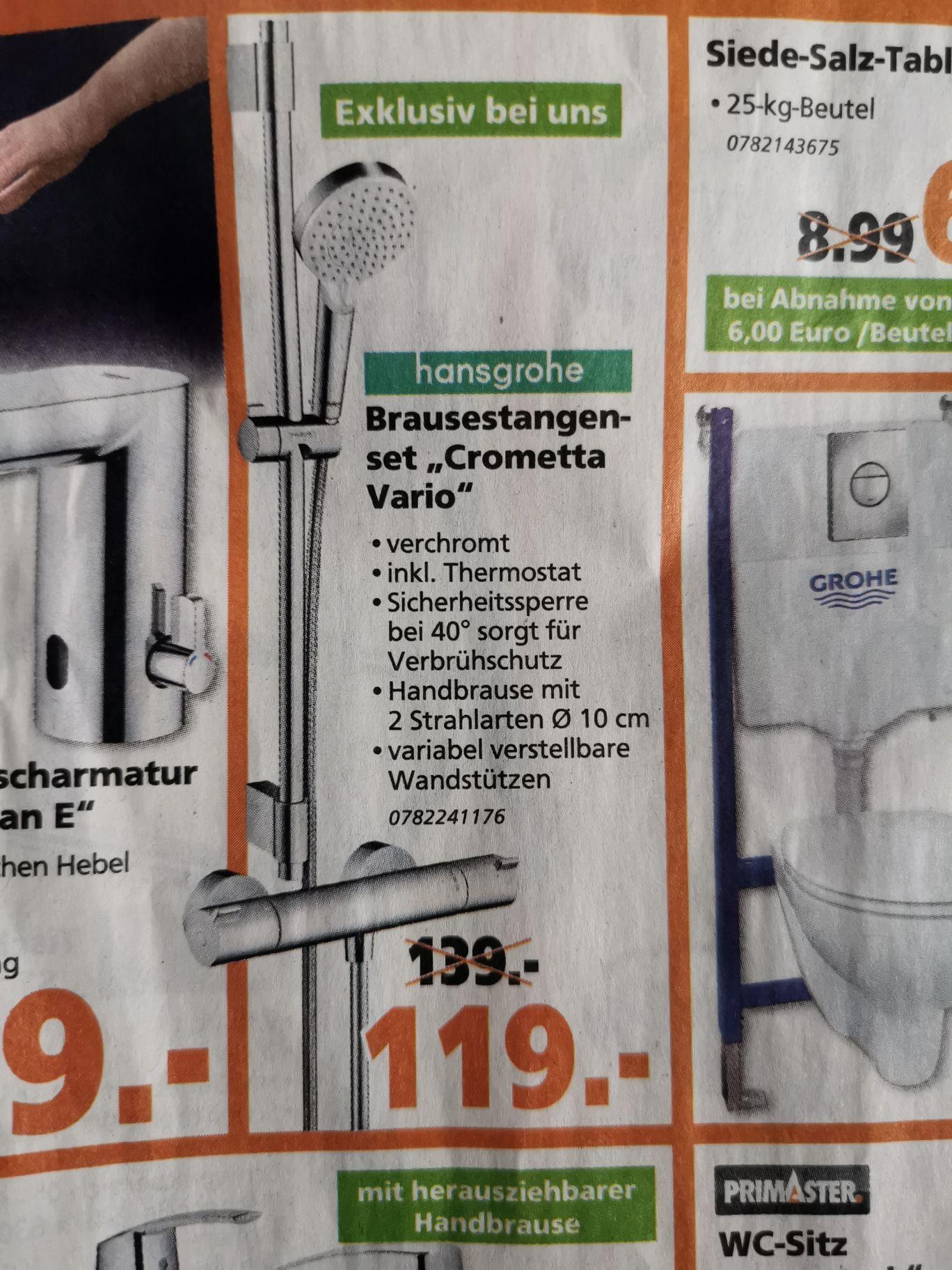 Bauhaus TPG Hansgrohe Crometta Vario Duschthermostat mit Brausestange