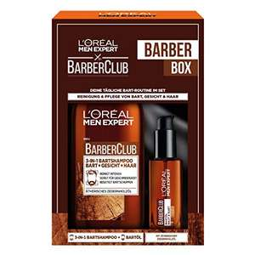 L'Oréal Men Expert Barber Club Geschenkset: Bartöl und 3-in-1 Bartshampoo (Amazon Prime + Sparabo)