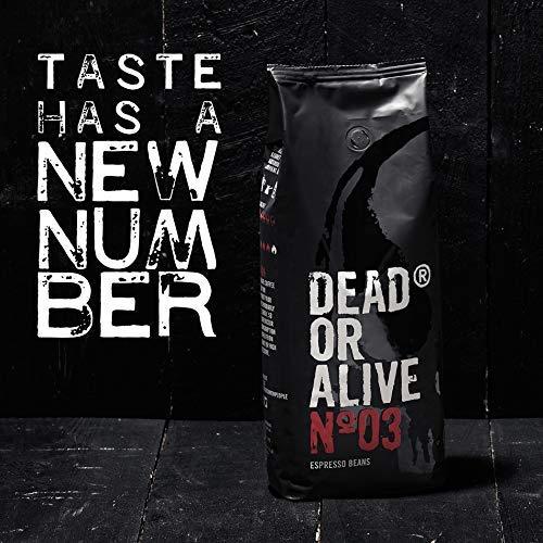 Amazon Prime: Dead or Alive no 3 , 1kg Espresso Kaffeebohnen, stark und koffeinreich, also wie der Name schon sagt ....