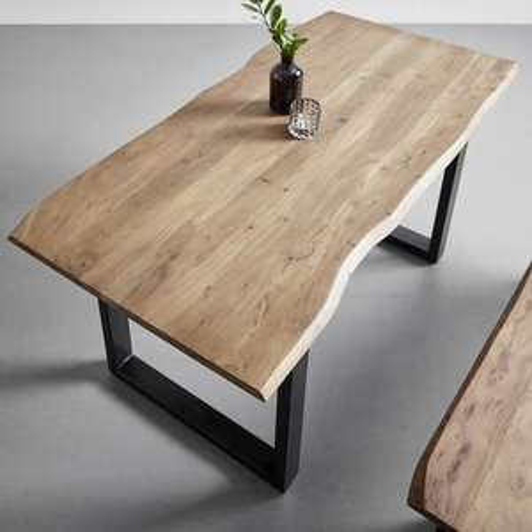 Esstisch Malmo (Akazie Echtholz, 160 x 85 cm) für 244.30€, Sitzbank Malmo (160 x 42 cm) für 104.30€ [Mömax Abholung]
