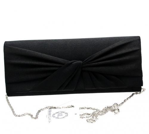 Monte Lovis Damen Handtasche Clutch Tasche Tanztasche in edlem Satin Samt Taschen