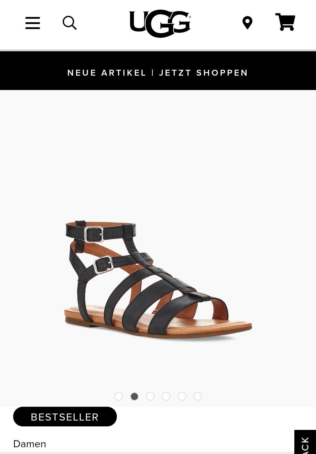 Ugg Mahalla Sandalen /Sandaletten Damen Schuhe Farbe Schwarz - Nur Größe 36-