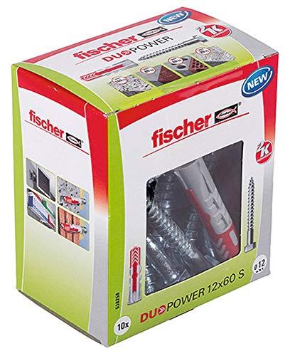 fischer DUOPOWER 12 x 60 S (Universaldübel mit Sicherheitsschraube) [Amazon Prime]
