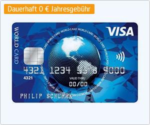 ICS Visa World Card dauerhaft kostenlos mit WEB.Cent im Gegenwert von 50/75€