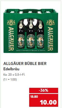 [KAUFLAND - NRW?] Allgäuer Büble Edelbräu 20 x 0,5l