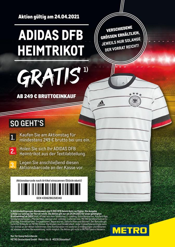 [METRO] EM-Trikot DFB gratis ab 249€-Einkauf (Brutto) am 24.04.