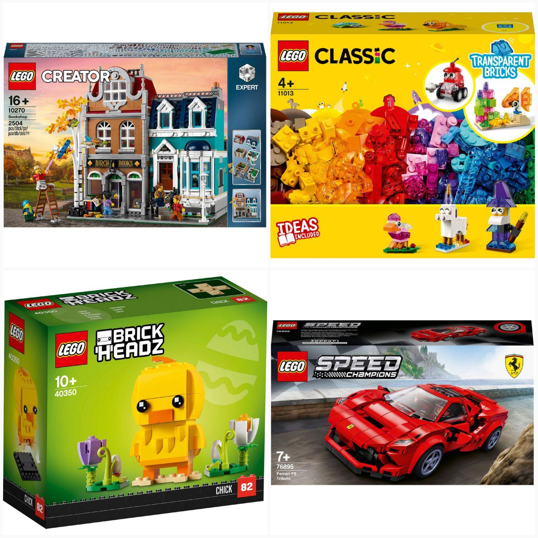 LEGO Kombi-Deal 10270 11013 40350 76895 Buchhandlung 40€ Rabatt ab 200 € 10 % Shoop möglich