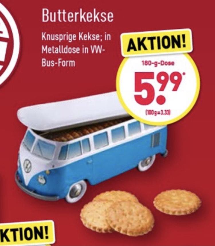 VW Bus Metalldose mit Keksen [ALDI Nord]