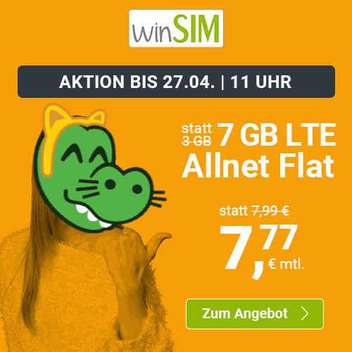 Drillisch KW16 Angebote: 7GB LTE winSIM (7,77€) I 10GB LTE PremiumSIM (9,99€) I 6GB LTE sim.de (6,99€) I 11GB LTE Handyvertrag.de (11,11€)