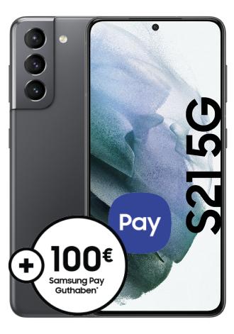 Samsung Galaxy S21 5G (128GB) mit Vodafone Smart L+ (15GB LTE @ 500 Mbit/s) für 4,99 € ZZ & eff. mtl. 34,99 € + 100 € Samsung Pay Guthaben