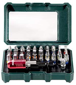 Metabo Bit-Box SP 32-teilig (inkl. Stecknussadapter + Schnellwechselbithalter, Chrom-Vanadium-Stahl, Bit-Set) [Prime]
