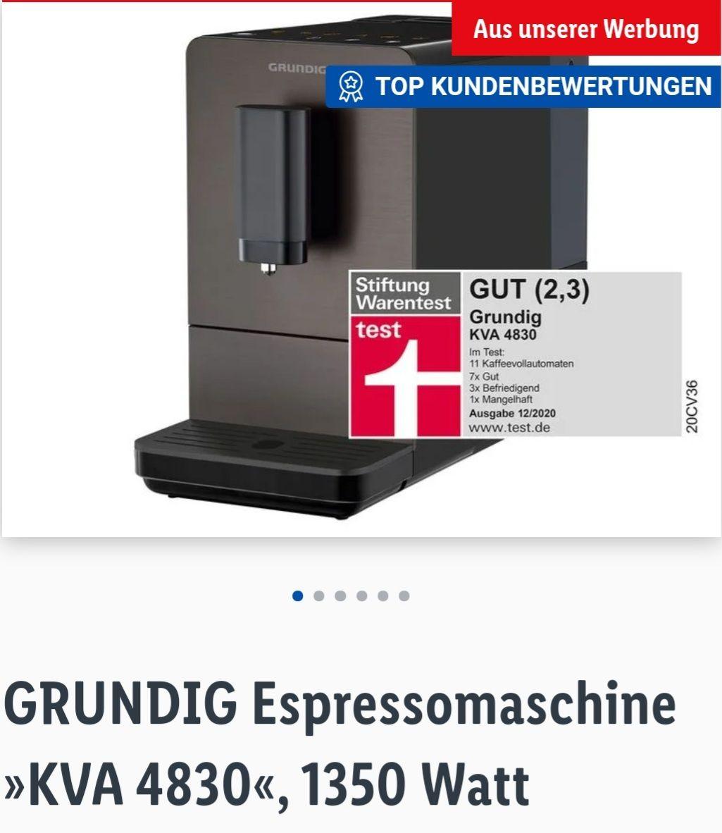 GRUNDIG Espressomaschine KVA 4830 1350 Watt Lidl Online