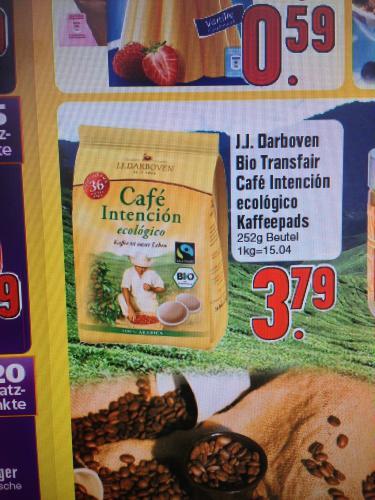 [lokal? Edeka Lenzfried]  J.J. Darboven Café Intención 100% Arabica, 36 Kaffee-Pads für 3,79€