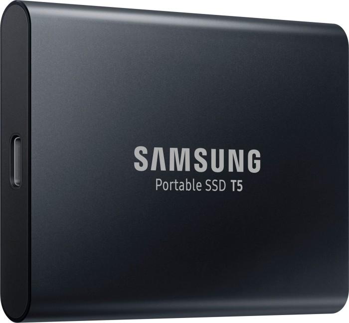 Samsung Portable SSD T5 schwarz 1TB, USB-C 3.1 (3D-NAND TLC, DRAM, mSATA, 540Mbps, 51g, 256bit AES)