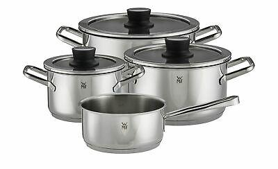 WMF Trend Cuisine Topf-Set 4-teilig (3x Fleischtopf mit Deckel Ø 16, 20, 24 cm, 1x Stielkasserolle Ø 16 cm, geeignet für Induktionsherd)
