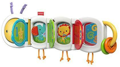 Fisher-Price Babys Spielzeugraupe, mit 3 klappbaren Türchen, ab 6 Monaten [Amazon Prime]