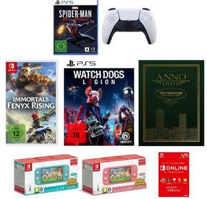 Anno 1800 Investor 54,99€ | Sony DualSense Controller & Miles Morales 90€ | Switch Lite Animal X-ing 209,99€ | Immortals Fenyx Rising 29,99€