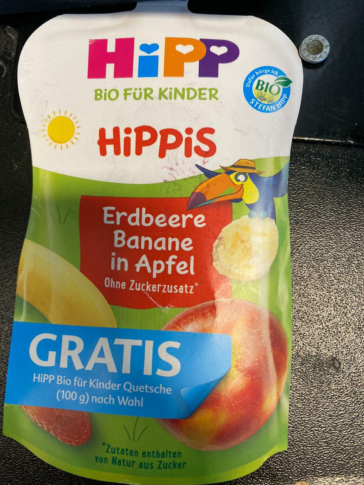 Hipp Bio für Kinder Quetsche Hippis Quetschbeutel Gratis mit Coupon.