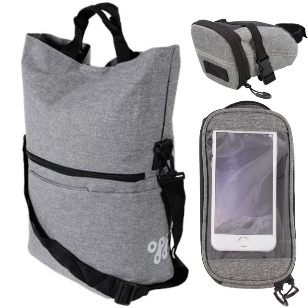 Walfort div. Fahrradzubehör: 18L Shopper, Smartphonebag, Satteltasche, Schloss, Standpumpe, …