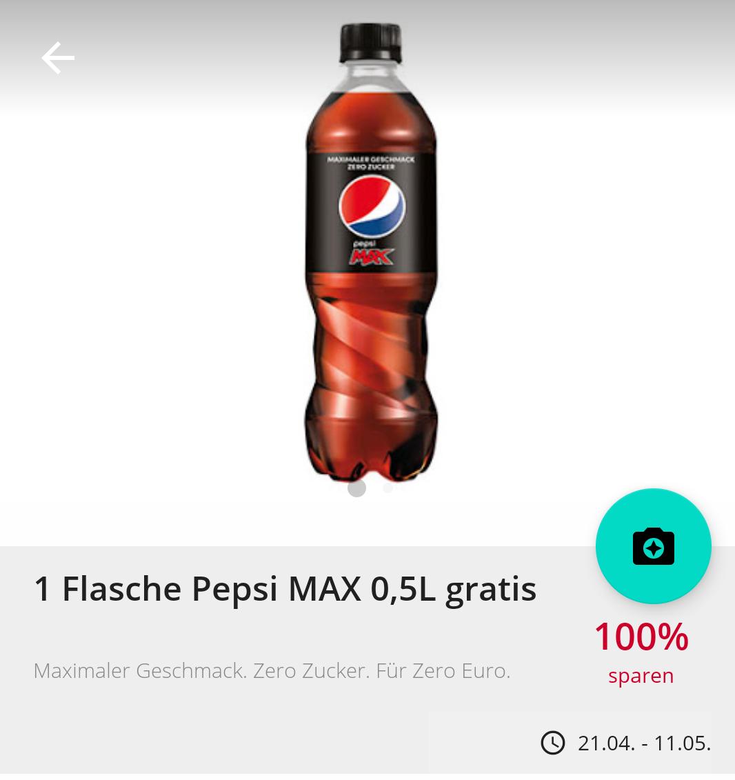 [GzG] Pepsi Max 0,5l gratis [bundesweit] [Scondoo]