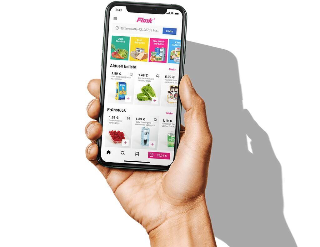 Flink - Online-Lieferdienst (wie Gorillas) // 10 € Mindestbestellwert