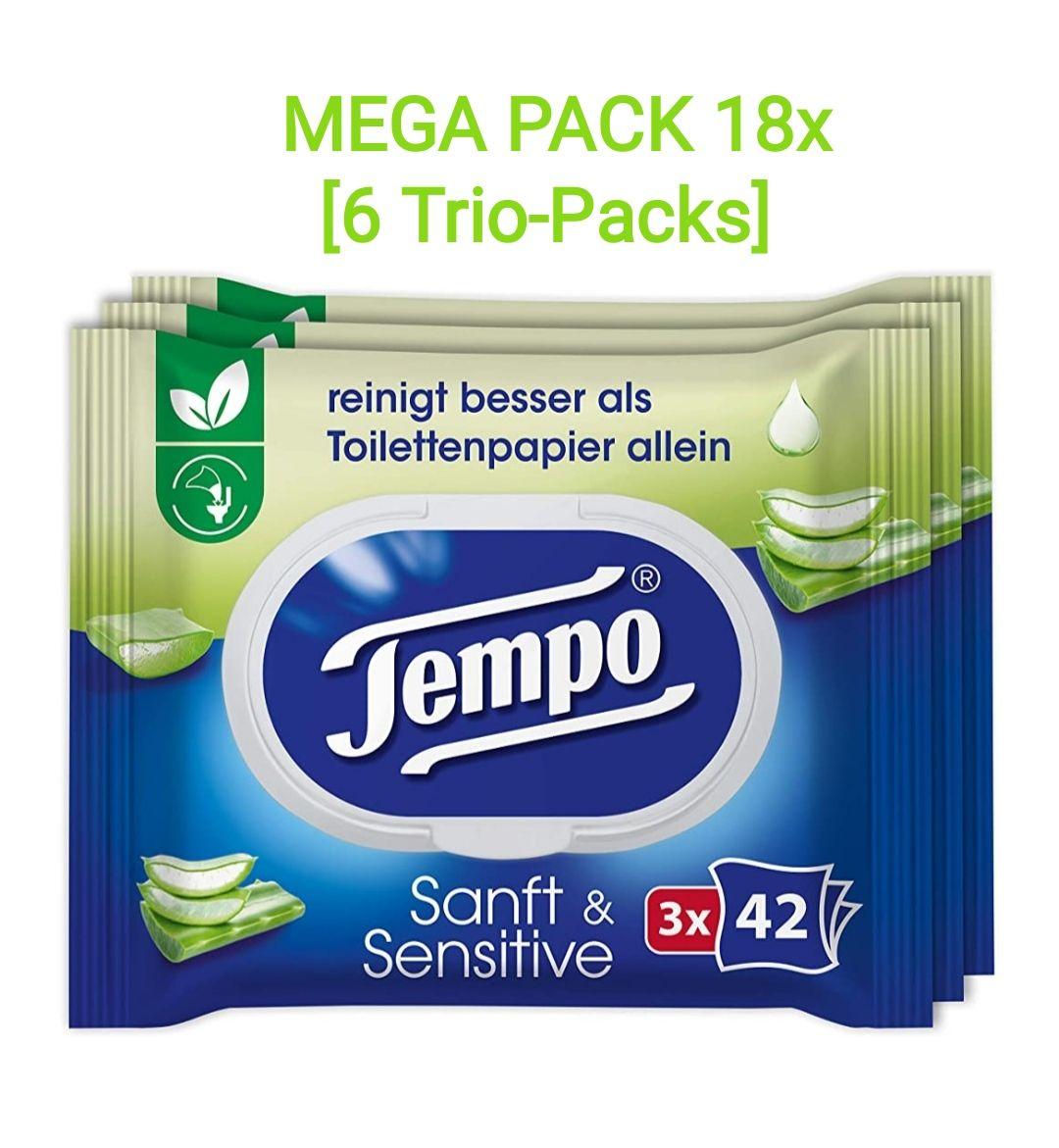 1kg Großpackung 18 Packs zu je 42 Tempo feuchte Toilettentücher bei Amazon im Spar-Abo zum Bestpreis von 17,61€ [16,41€ möglich] VKfrei 4all