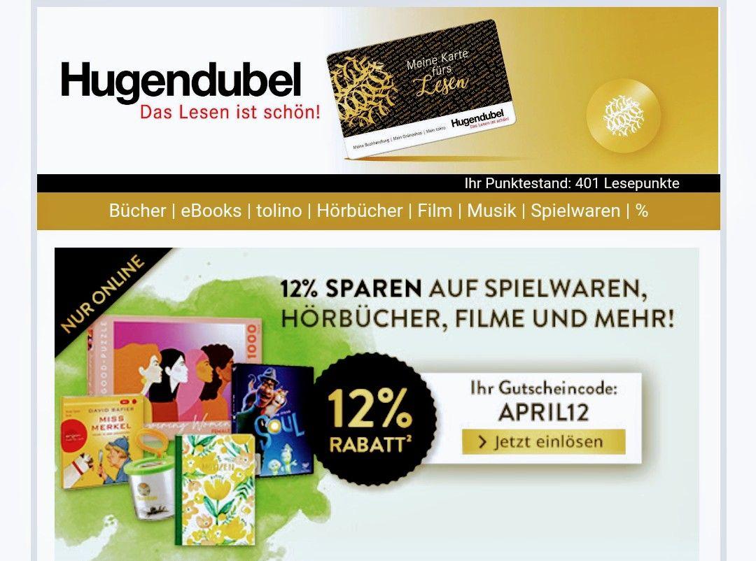 Hugendubel - 12% Rabatt - Online Medien - & Buchversand