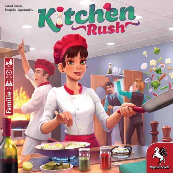 Kitchen Rush von Pegasus Spiele   kooperatives Brettspiel   2-4 Spieler   Spieldauer 20-60 min   ab 8 Jahren