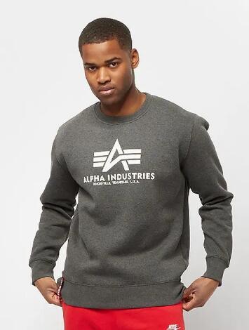 Alpha Industries Basic Sweater Pullover (Größe S bis XL) für 24,99€ inkl. Versand (Snipes)