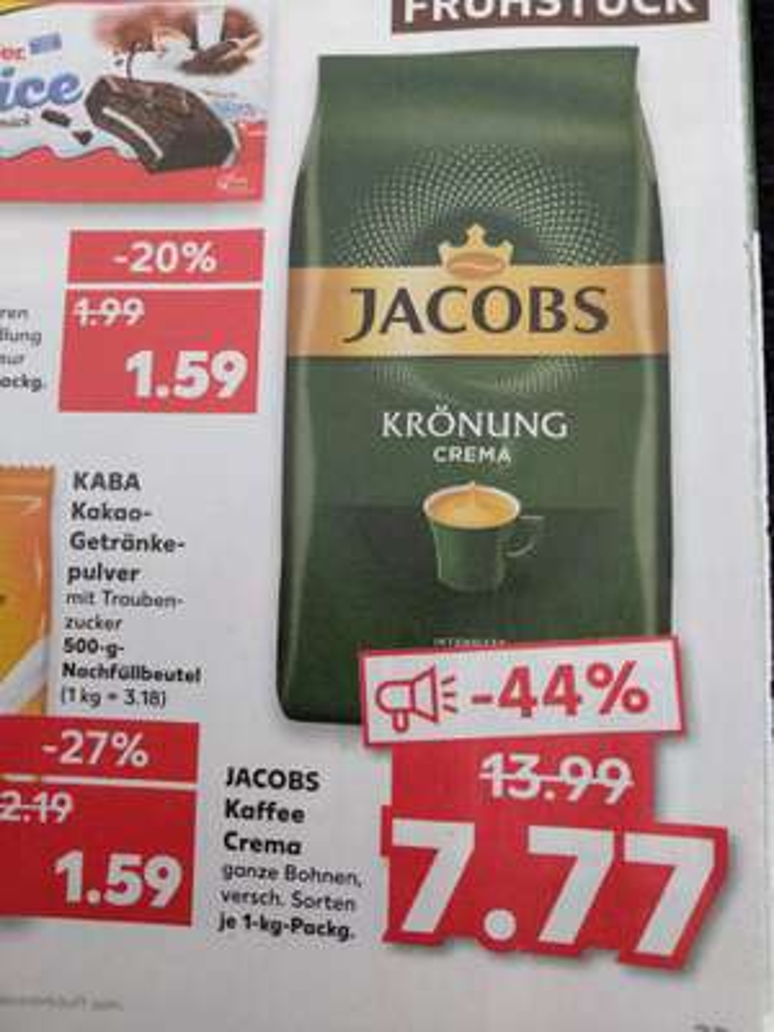 Kaufland Do-Mi Jacobs Krönung ganze Bohnen