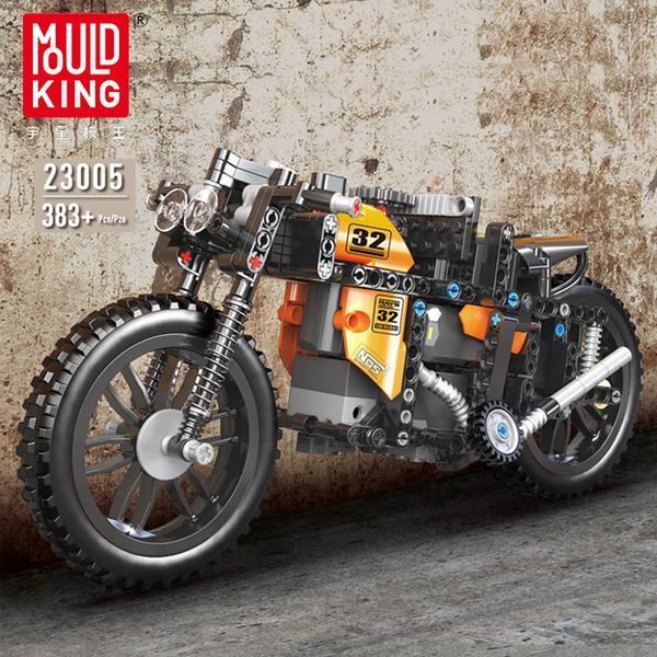 Mould King 23005 RC Motorrad - 3 Motoren - autorisiert von Green Gecko - 383 Klemmbausteine