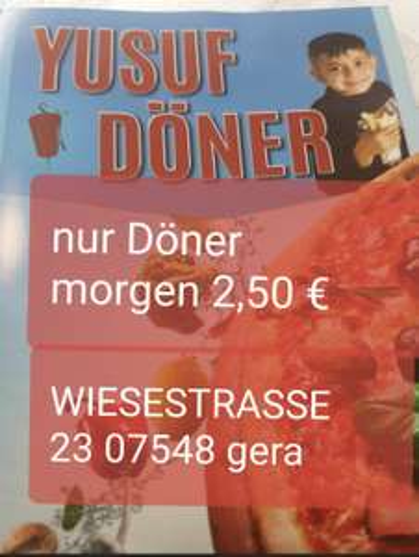 (Gera lokal) 22.04.21 Döner 2,50€ bei Yusuf Döner