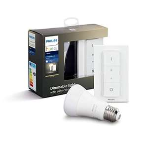 [Prime] Philips Hue White E27 Wireless Dimming Bluetooth Starter Kit Warmweiß (9W, 806lm, 2700K, ZigBee & Bluetooth)