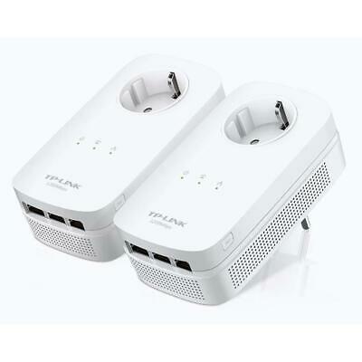 TP-Link TL-PA8030P KIT | 1300Mbit/s | 6x Gigabit LAN Ports | Passthrough | Steckdose Powerline Adapter Set 2x2-MIMO | Refurbished