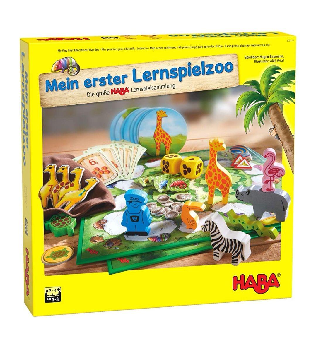 (Prime) HABA 305173 - Mein erster Lernspielzoo, 10 Lernspiele für Kinder ab 3 Jahren