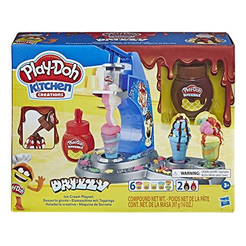 Play-Doh Drizzy Eismaschine mit Toppings und 6 Knetdosen [PRIME]
