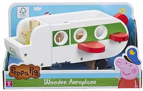 Peppa Wutz Spielzeugflugzeug aus Holz, inkl. Frau Mümmel und Gepäckstücken, Holzboot 9,41€, Peppa 9,64€ [Amazon Prime]