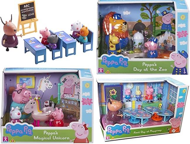 [Prime] Peppa Pig Sammeldeal (6), z.B. Boti Europe B.V. 33081 - Peppa Klassenzimmer, 10 teiliges Spielset