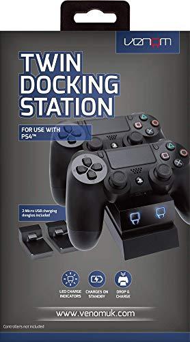 [Prime] Venom Twin Docking Station (für zwei PS4-Controller, farbige Ladestandsanzeige, inkl. Micro-USB-Dongles & USB-Kabel)